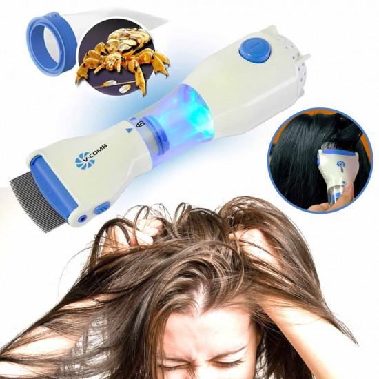 Pieptene aspirator, impotriva paduchilor si parazitilor, V-Comb