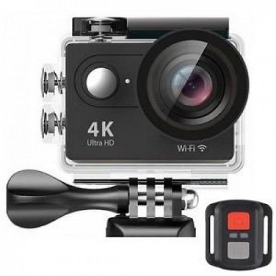 Camera video sport, 4K - Ultra HD, Wifi, Waterproof, Negru