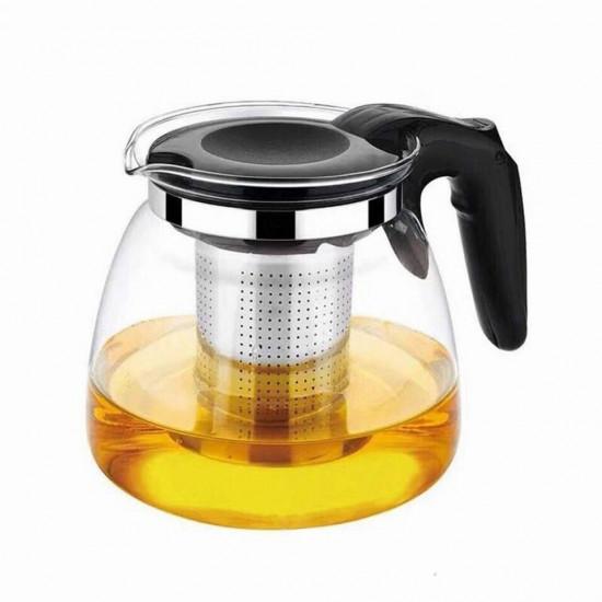 Ceainic din sticla 900 ml ,cu sita din inox