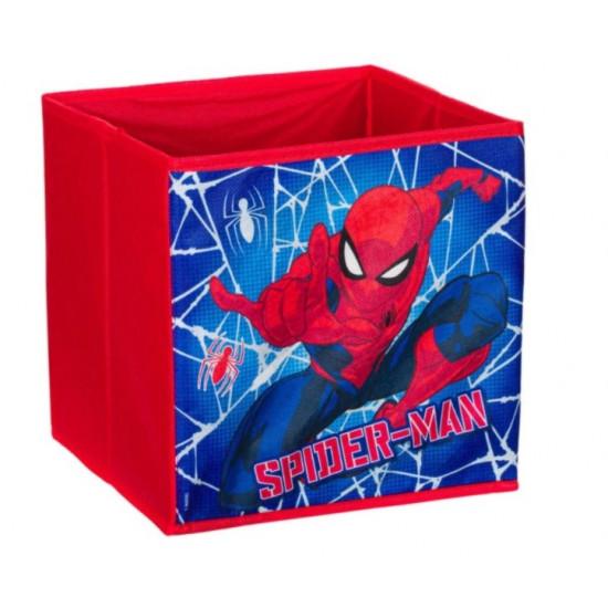 Cutie pliabila,pentru depozitare, Spiderman, 25x25x25 cm