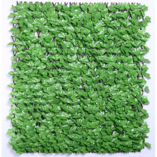 Gard din lemn cu frunze din plastic 1x2 m
