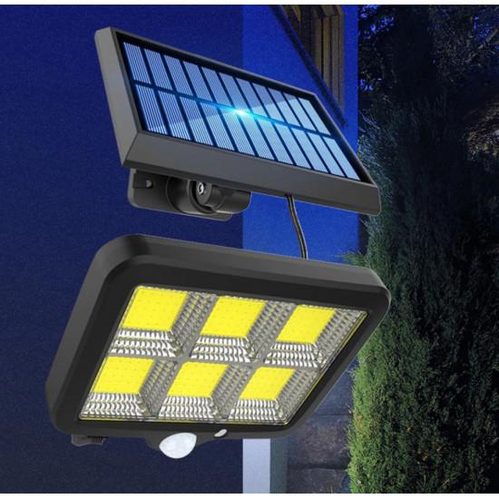 Proiector solar cu telecomanda si senzor 1+1 gratis