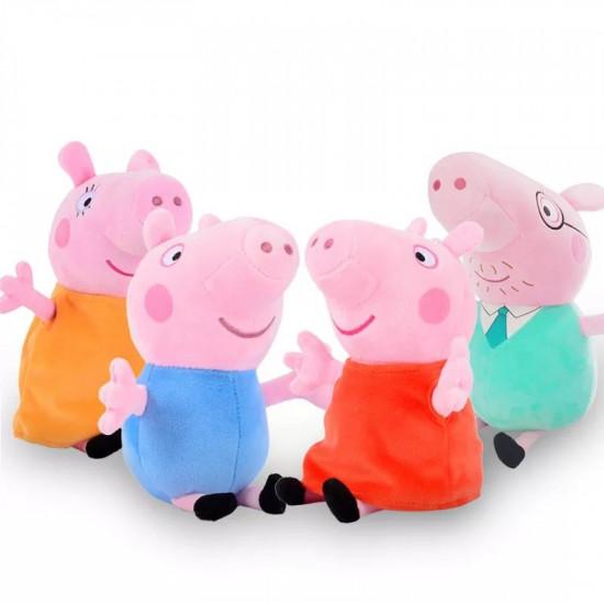 Set 4 Jucarii Din Plus Peppa Pig stil breloc