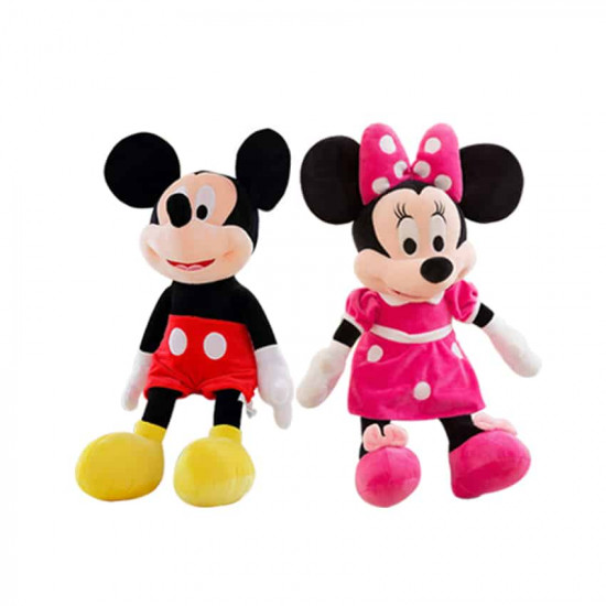 Set mascote din plus Mickey si Minnie Mouse 25 cm