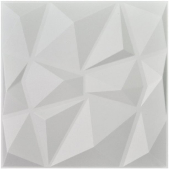 Set 5 placi decorative pentru perete model 3 D , alb